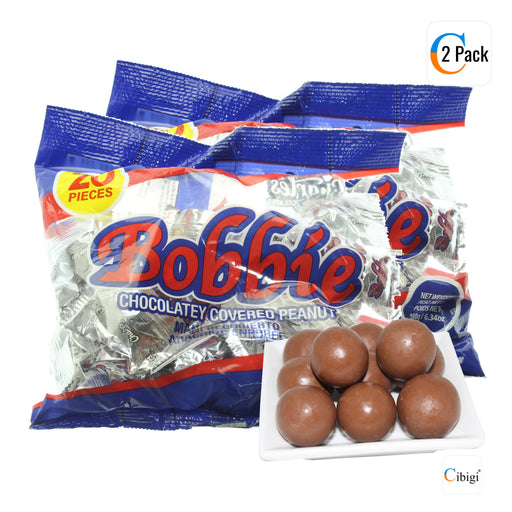 Bobbie Chocolate Covered Peanuts, Pack of 50, 180g