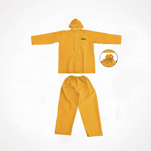 INGCO Rain Coat (XXXL,XXL) yellow 2 piece - Cibigi