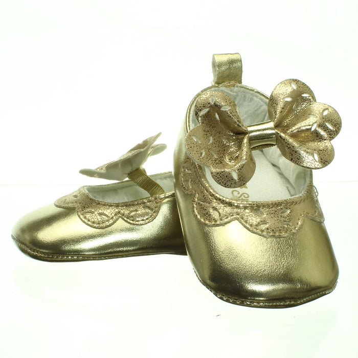 BABY GIRLS GOLD SHOES (Size 3-6M and 6-9M) - Cibigi
