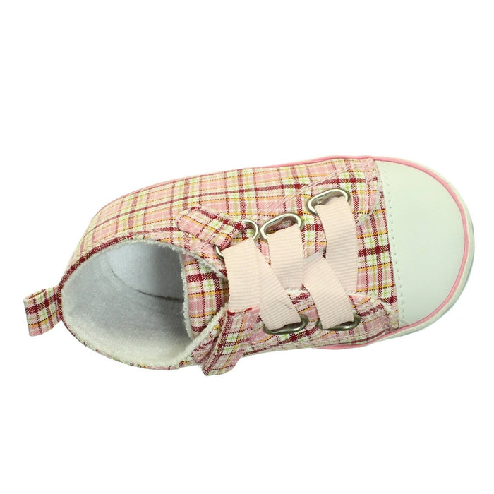 PINK PLAID SNEAKERS (Size 12-18M) - Cibigi