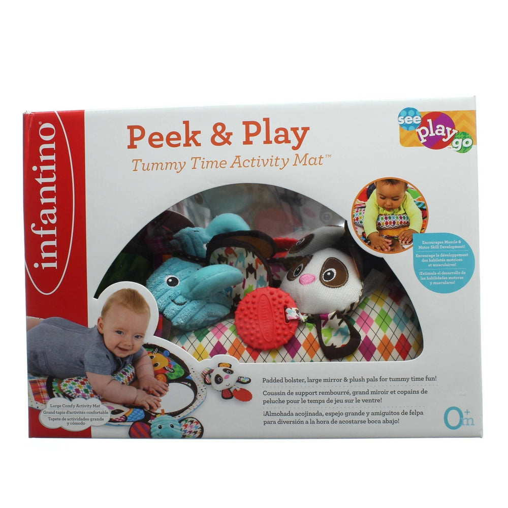 INFANTINO PEEK AND PLAY Tummy Time Activity Mat - Cibigi