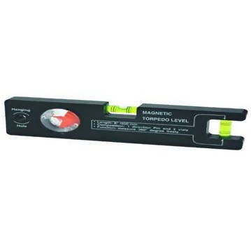 8 In. Magnetic Torpedo Level with Angle Finder