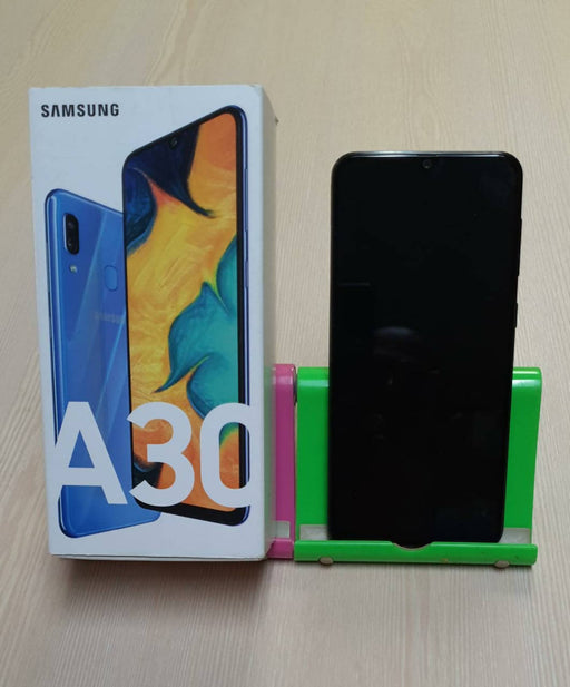 Samsung Galaxy A30 A307G, 4G, 3G, GSM, Android 9 Pie, Dual Sim, Triple 25MP+8MP+5MP+16MP Front Camera, 64GB