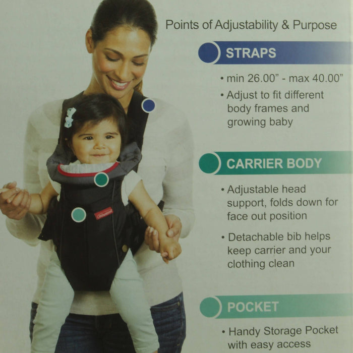 INFANTINO Swift Classic Baby Carrier (8-25lbs), Easy To Use - Black