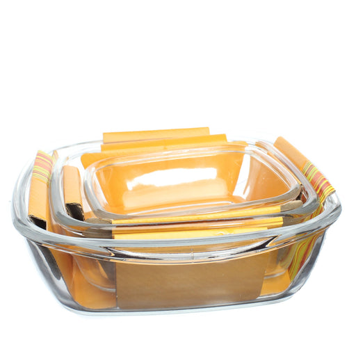 Deep rectangular baking dish set of 3