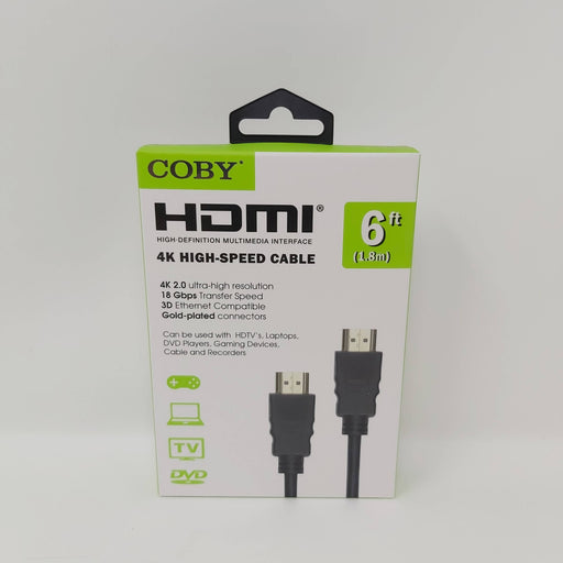 Coby 6 FT 4K High Speed HDMI Cable