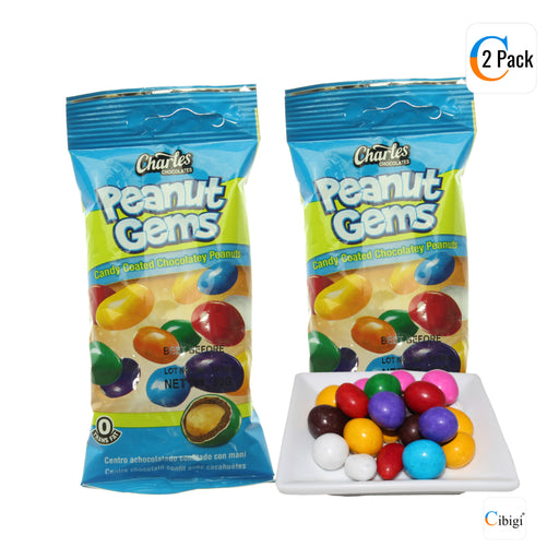 Peanut Gems, Candy Coated Chocolatey Covered Peanuts, 50g