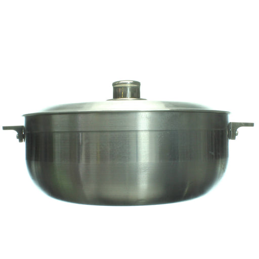 Oasis Heavy Duty Aluminum Pot with Lid, Silver - Cibigi