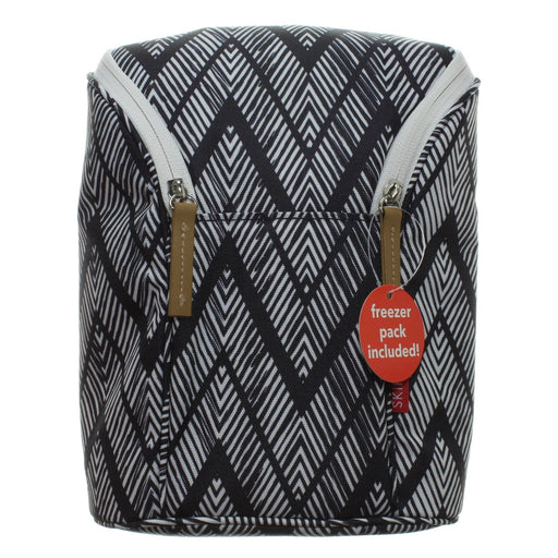 ZIG ZAG ZEBRA DOUBLE BOTTLE BAG - Cibigi