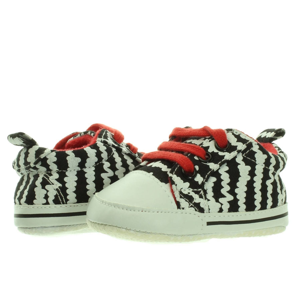 BABY BOY RED PRINTED SNEAKER SHOE (6-12M)