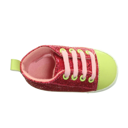 BABY GIRLS PINK AND GREEN SNEAKERS (Size 6-12M) - Cibigi
