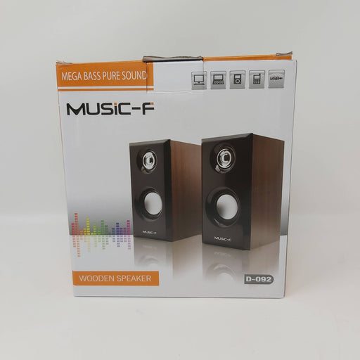 Mega Bass Pure Sound Wooden USB Speakers