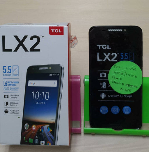 "TCL LX2 5.5"" Smartphone, 4G/LTE HD Display Quad Core, Android, 13MP HD Camera, 16GB"