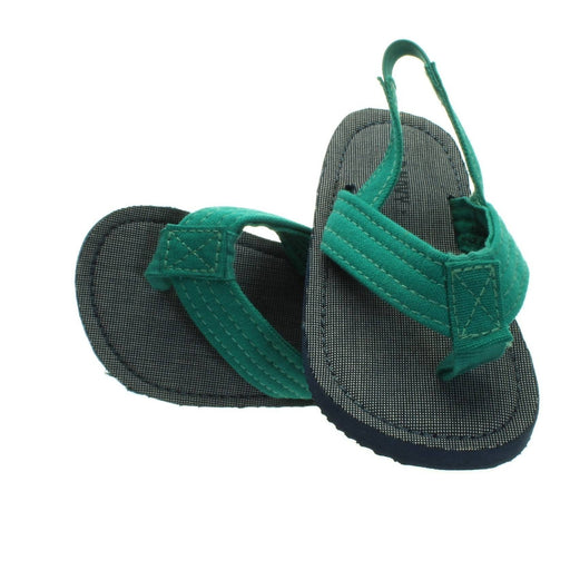 BOYS GREEN-NAVY SANDALS (Size 6) - Cibigi