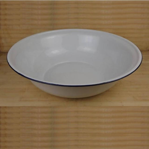 WHITE ENAMEL WASH BASIN, 36CM
