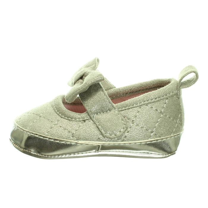 BABY GIRLS SILVER SHOES (Size 2) - Cibigi