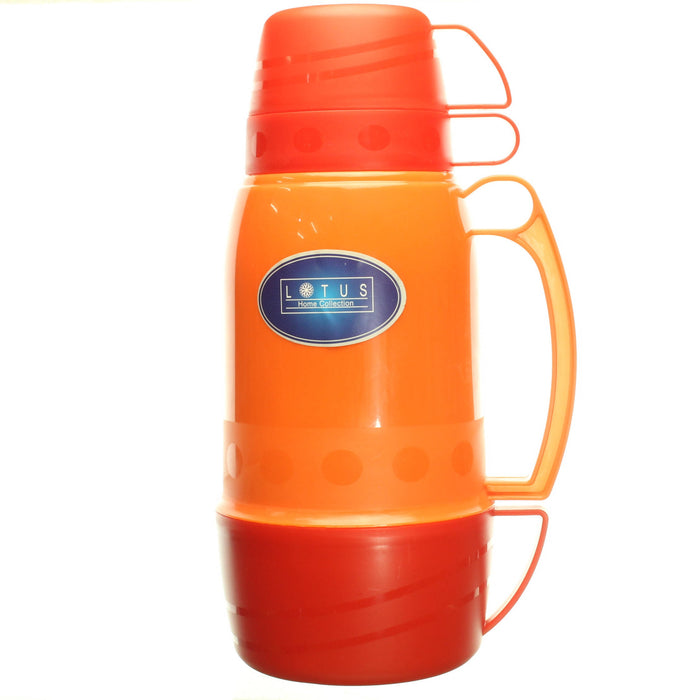 Lotus Two Cup Vacuum Flask, 1L - Cibigi