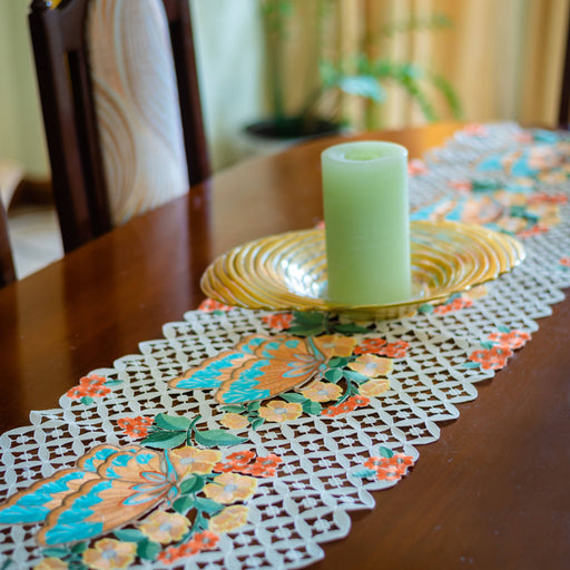 Butterflies and Flowers Table Runner