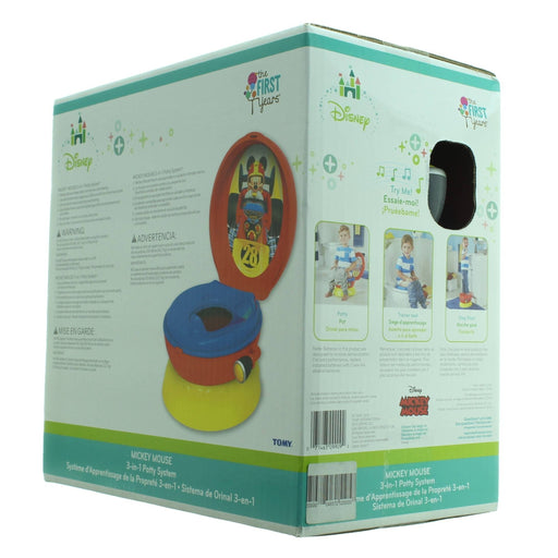 MICKEY MOUSE 3-in-1 Potty System(Red & yellow) - Cibigi