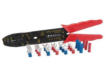 8in Four Way Crimping tool with 24 Terminal Connectors