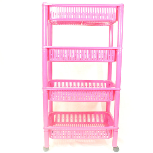4 layered multi purpose storage basket (pink) - Cibigi