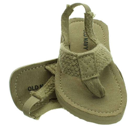 BABY STRAW COLOURED SANDALS