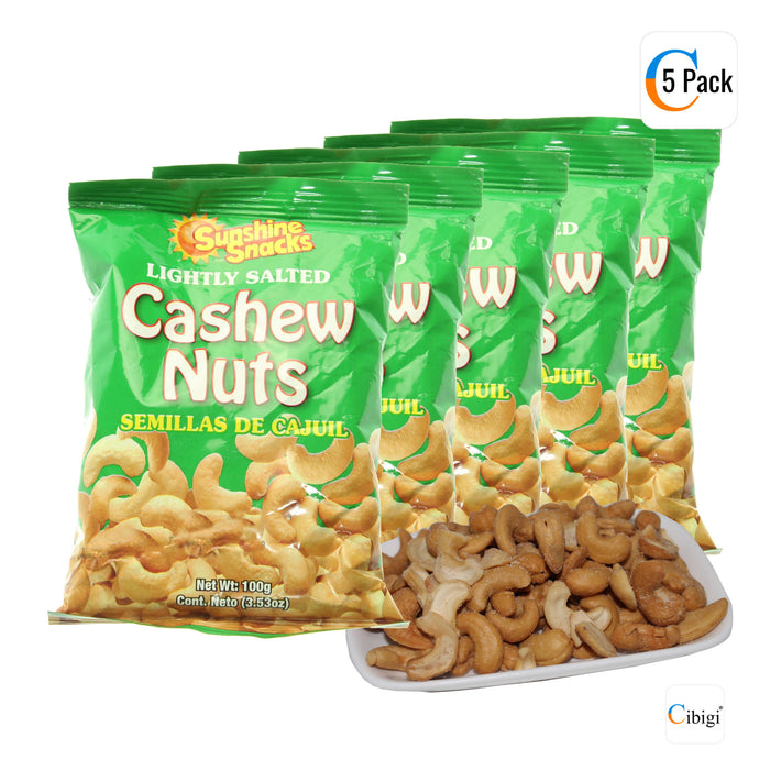Lightly Salted Cashew Nuts, Vegan Snack, 100g