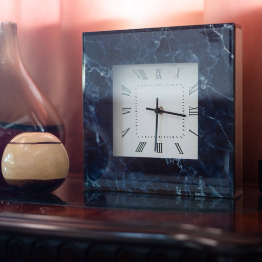 Marble Texture Square Wall Clock