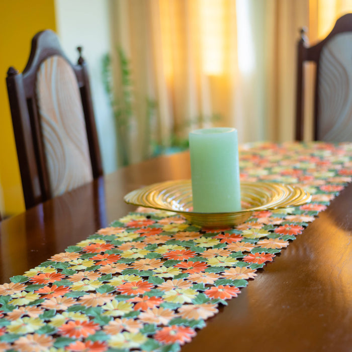 Cutwork Floral Table Runner
