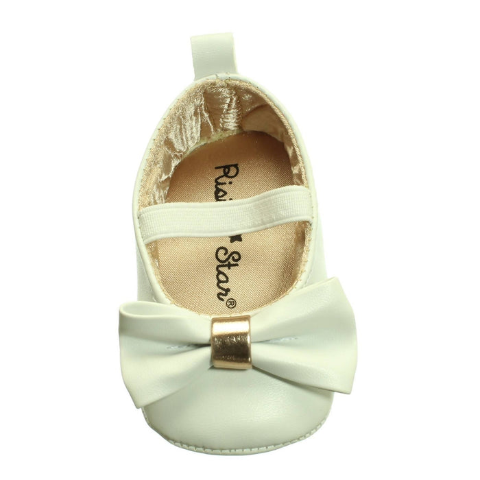 BABY GIRLS WHITE AND GOLD SHOES (3-6M) - Cibigi