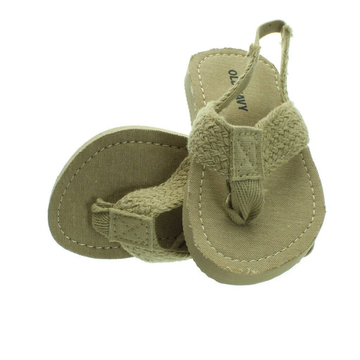 BABY LIGHT BROWN STRAW COLOURED SANDALS (Size 6) - Cibigi