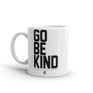 Go Be Kind Coffee Mug by Leon Logothetis