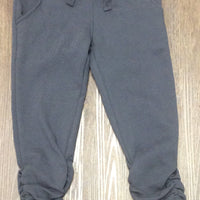 Offset charcoal pull on pant girls
