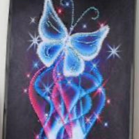 30 x 30 diamond painting rhinestone - electric butterfly YX8025
