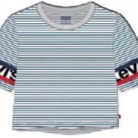 levis medieval blue s/s cropped top