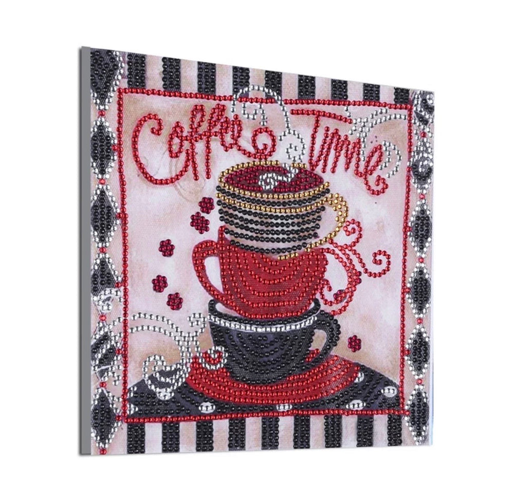 25 x 25 diamond painting (rhinestone) - coffee time H026