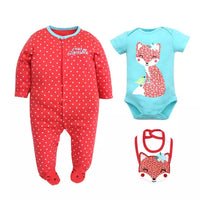 sleeper/creeper/bib set - fox g