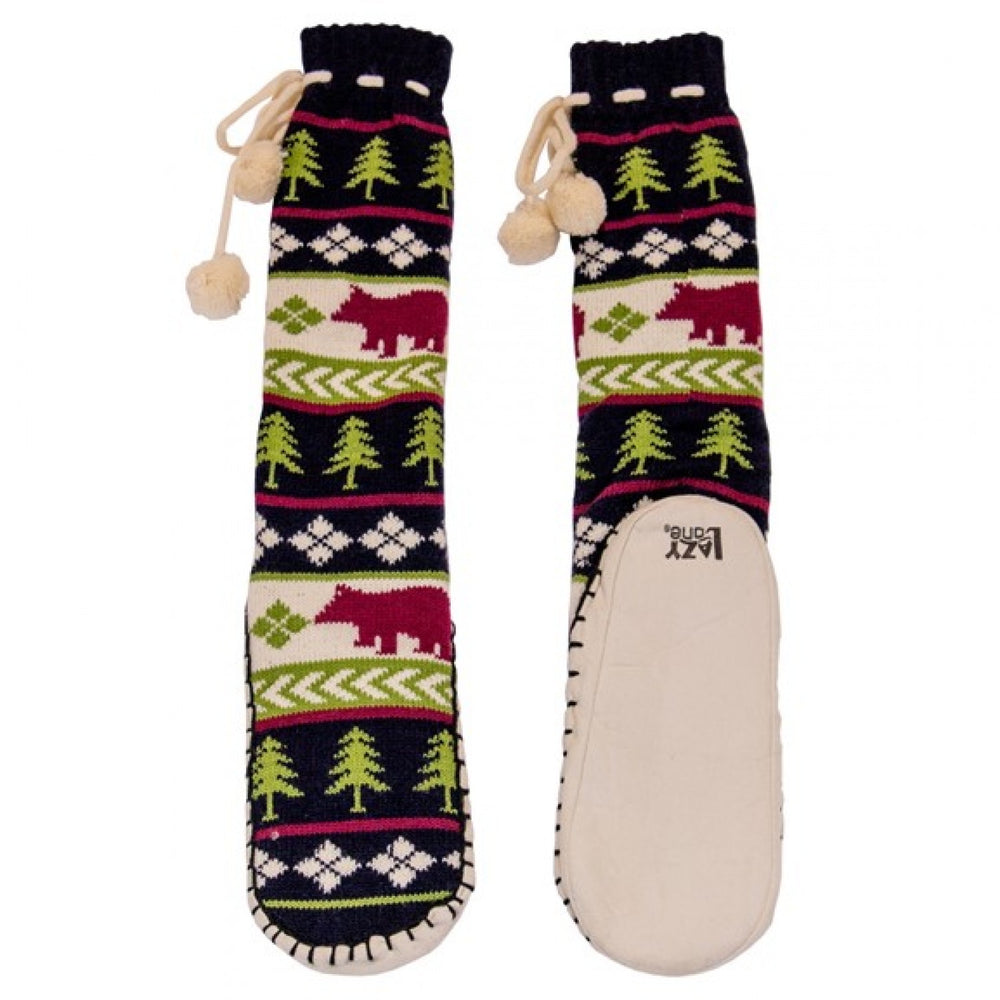 Lazy one - bear fair isle mukluk