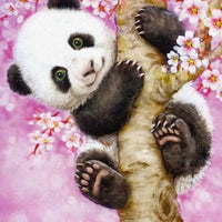 30 x 40  full round drill diamond painting - pink panda - hy2822