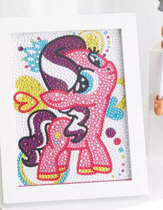 15 x 15 diamond painting (rhinestone) partial drill - pink horse