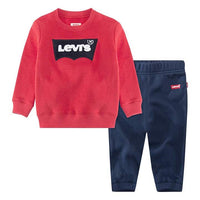 Levi's red chenille batwing crew 2 piece set