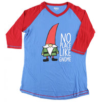 Lazy one  no place like gnome adult pj top