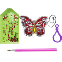 butterfly key chain set diamond painting