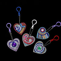 heart key chain set diamond painting