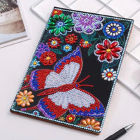 diamond painting notebook - butterfly HM012