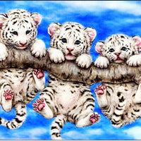 diamond painting full drill diamond - baby leopards HY5803