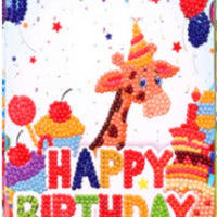 diamond painting greeting cards - giraffe