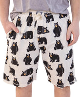 Lazy One - bear family pj shorts