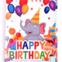 diamond painting greeting cards - elephant