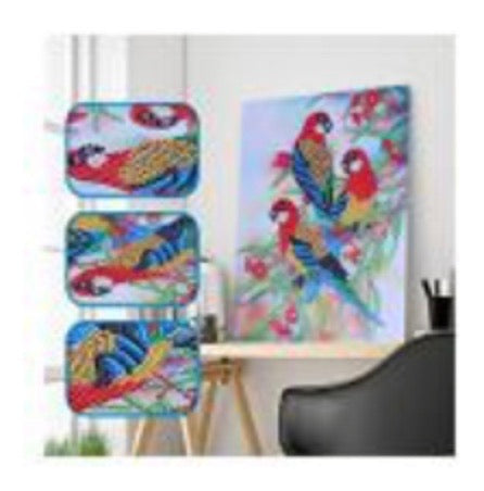 25 x 30 diamond painting rhinestone - 3 birds H011